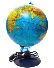 Глобус Земли физико-политический 250 мм с подсветкой Globen