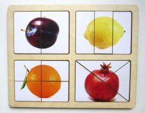 Разрезные картинки Фрукты-2
