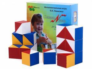 Сложи узор (деревян.) в картонной коробке Методика Б.П.Никитина