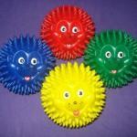 Ежик-шарик мяч массажный с шипами массажный 75 мм
