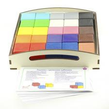 Набор Цветные кубики (4 см.) и карточки