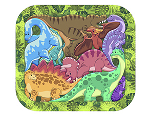 Зоопазл  Динозавры 9 дет. (дерево)