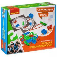 Настольная игра  Веселая микробиология Обучающие игры Bondibon