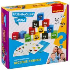 Настольная развивающая игра Веселые кубики Bondibon