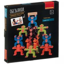 Настольная игра-баланс Обезьянки развивающая игра из дерева Bondibon