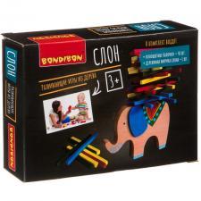 Настольная игра-баланс Слон развивающая игра из дерева Bondibon
