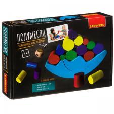 Настольная игра-баланс Полумесяц развивающая игра из дерева Bondibon