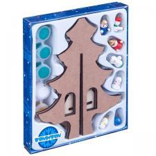 Новогодняя ёлочка-раскраска с игрушками 23см Новогодний набор