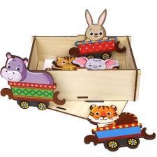 Хоровод Поезд с животными игрушка-пазл