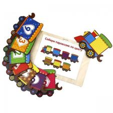 Хоровод Поезд с цифрами игрушка-пазл
