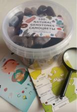 Набор камней самоцветов N7 1500гр самоцветов в пластиковом ведерке