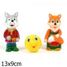Набор резиновых игрушек Лиса, Волк и Колобок