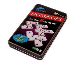Настольная игра Домино в жестяной коробке (Dominoes)