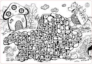Лабиринт коврик-раскраска большой (68х48см)