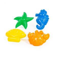 Формочки (краб + морской конёк + морская звезда + ракушка)