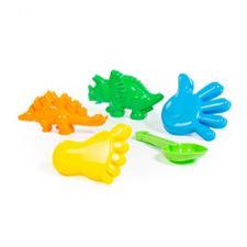 Набор: динозавры, ладошка, ступня, совок
