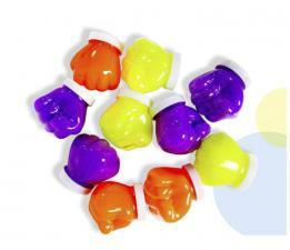 Слайм Стекло неон фиолетовый светится в темноте, 50 гр.