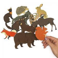 Животные леса ДМ - игровой набор Веселые липучки
