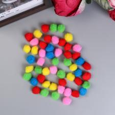 Помпоны для творчества, 5 цветов 25 мм набор 50 шт