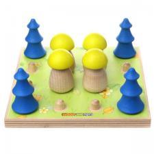 Лесная полянка (грибы елочки) сортер с карточками