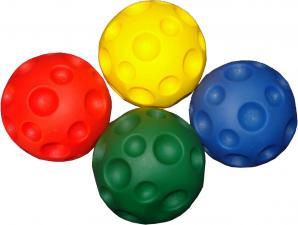 Тактильный шарик 100мм с выемками. Массажный мяч