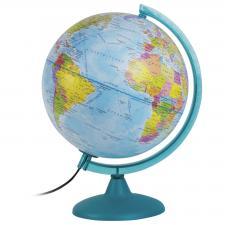 Глобус Земли политико-физический 250 мм с подсветкой от сети