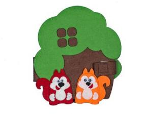 Чудо-дом Дерево развивающая игра из фетра