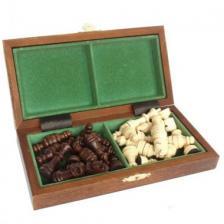 Шахматы магнитные деревянные малые арт140 (под заказ 1-2 дня)