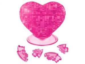 Crystal Puzzle Розовое сердце 3Д пазл