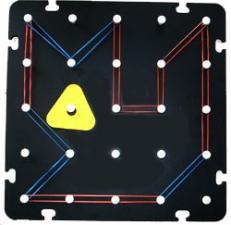 Геометрический математический планшет геоборд большой